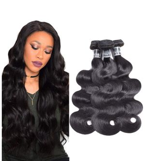 9A Grade Brazilian Body Wave Human Hair Bundles Weave Hair Human Bundles Unprocessed Brazilian Virgin Hair for African Americans Women for Sale in Arlington, VA