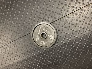 25 pound cast iron weight plate. I have 4 to sell. $40 each. Cash and carry for Sale in Pompano Beach, FL