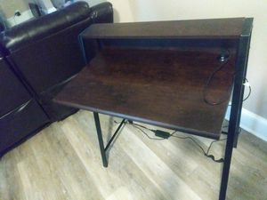 Espresso Wood and Metal Desk for Sale in Cleveland, OH