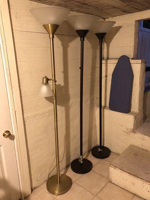 Three Metal Floor Lamps for Sale in El Segundo, CA