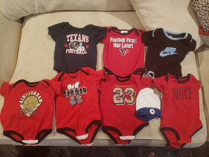 Baby onesies 0-3 texans nike Jordan for Sale in Pasadena, TX