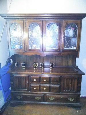 Antique China Cabinet, with China ware. for Sale in Cleveland, OH