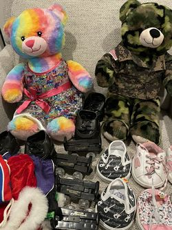 2 Build A Bears With Clothes And Accessories for Sale in West Sacramento,  CA