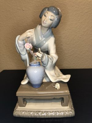 Lladro #4840 Japanese Girl Arranging Flowers for Sale in San Diego, CA