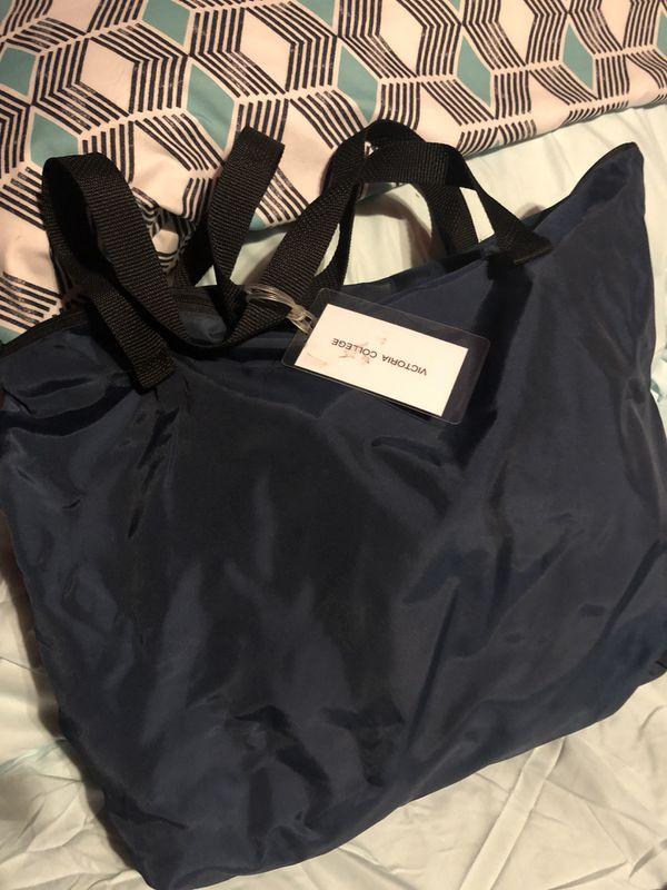 Blue bag for nursing school