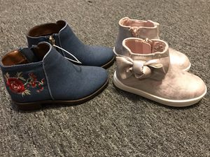 New baby girl size 7c boots for Sale in Columbus, OH