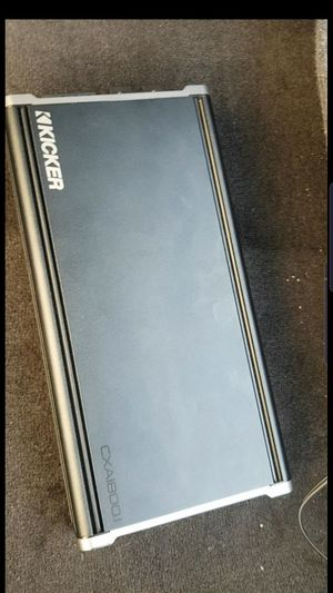 KICKER CXA1800.1 AMP FOR BASS(1800 RMS!!)(SERIOUS OFFERS ONLY) Strong amp had it on 2 15's(you won't find this amp cheaper you'll find a cheap amp for Sale in Rosemead, CA