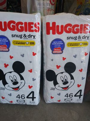 Huggies size 4 /46 count each for Sale in Cape Coral, FL