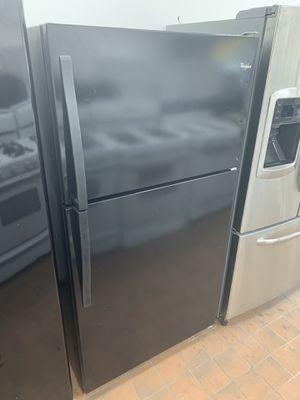 Black refrigerator/60 day warranty for Sale in Detroit, MI