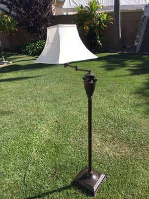 Swing arm floor lamp-antique bronze finish for Sale in Torrance, CA