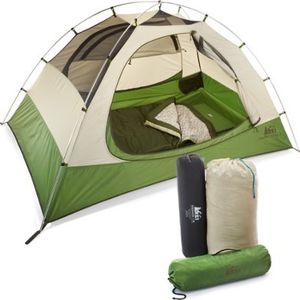 Rei camp Dome 2 bundle Tent Sleeping Pad Bag for Sale in Newcastle, WA