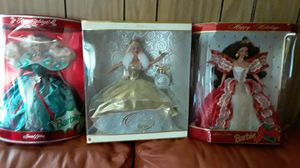 Holiday Barbie's (3) $20 ea. or $55 all 3. for Sale in Cedar Creek, TX