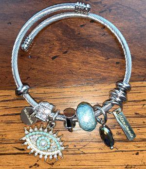 Handmade stainless steel charm bracelet for Sale in Milliken, CO