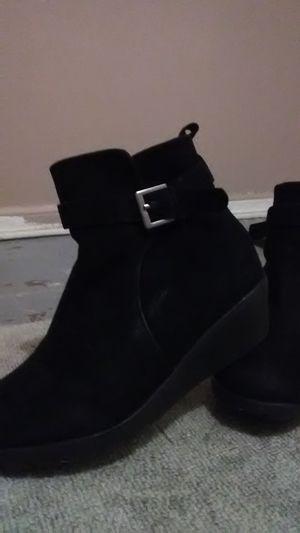 Girls size 1 black stylish boots for Sale in Spokane, WA