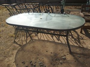 Patio table with 6 matching chairs for Sale in Mesa, AZ