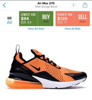 Worn Men's Nike Air Max 270 Size 9 for Sale in Philadelphia, PA
