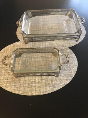 Silverplate Pyrex Casserole Holders for Sale in Pennington, NJ