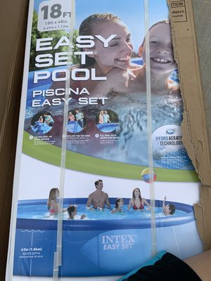 Inflatable 18 feet x 48inch intex pool for Sale in Ellicott City, MD
