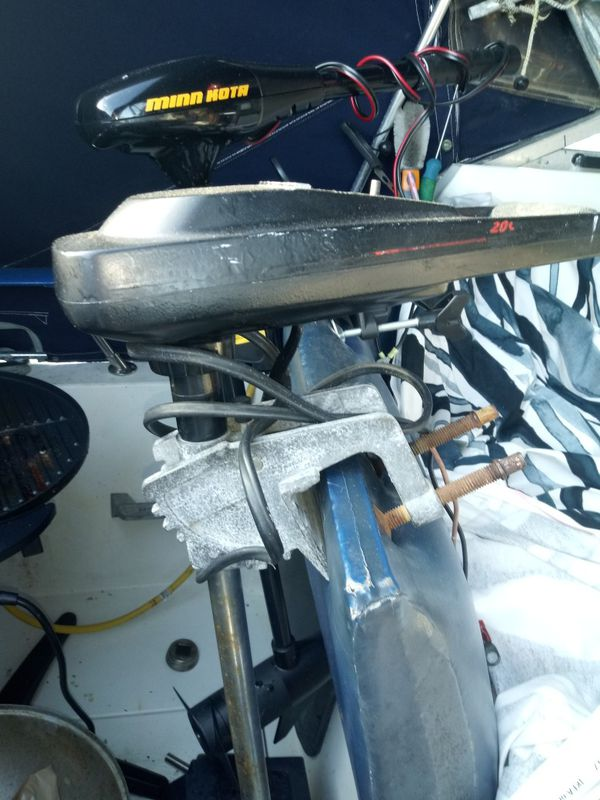 BOAT TROLLING MOTOR ADD DINGY IF YOU WANT