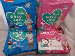 Pampers pull up diapers for Sale in Bloomington, CA