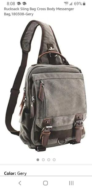 Jiao Miao Canvas Shoulder Backpack Travel Rucksack Sling Bag Cross Body Messenger for Sale in Rancho Cucamonga, CA