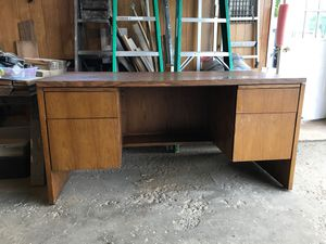 Solid Oak Executive Desk for Sale in Depew, NY