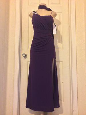 *Purple High-Slit Formal Dress+Scarf • S for Sale in Carrollton, TX