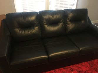 Kensington - Black leather sofa for Sale in Salt Lake City,  UT