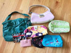 Bundle - Handbags, Makeup Bags, & Wallet (Deux Lux, Clinique, Lancôme) for Sale in San Francisco, CA