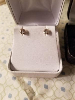 A little over .5 carat diamond gold studded earrings for Sale in Affton, MO