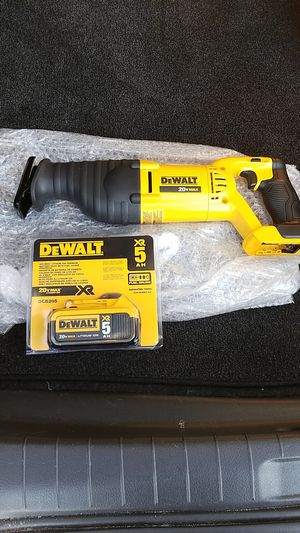 New dewalt 20v MAX saws all and battery for Sale in Ashburn, VA