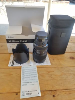 BRAND NEW: Sigma 50-100 f1.8 Art for Canon. for Sale in Los Angeles, CA
