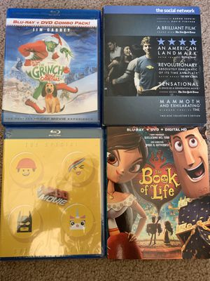 Blu ray Movies. LEGO Movie. The Grinch. Social network. Green Bay Packers Super bowl for Sale in San Diego, CA