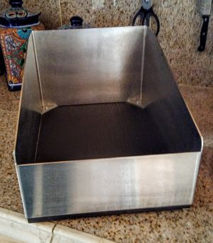 Stainless Steel & Wood Base Storage/Organizers Containers ~ Set of 2 for Sale in Mesa, AZ