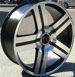 "Brand New 24"" Rep25 6x139.7 Black Machine Wheels for Sale in Miami Springs, FL"