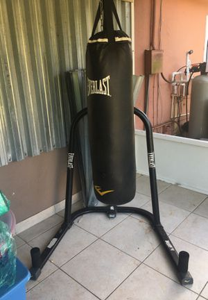 Everlast punching bag and Stan with speed bag connection for Sale in Royal Palm Beach, FL
