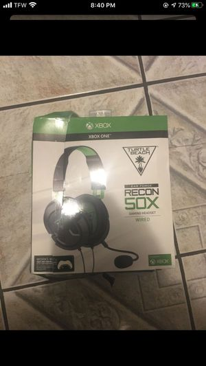 Turtle Beach Recon 50X Gaming Headset for Xbox One, PS4, PC, Mobile (Black) for Sale in Los Angeles, CA