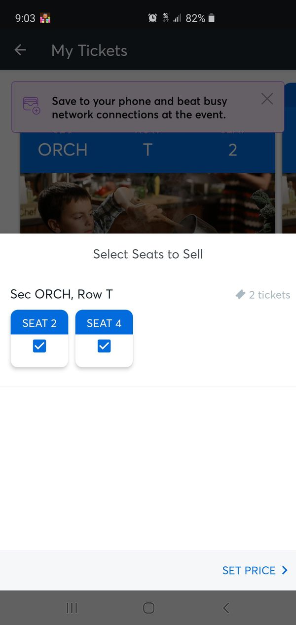 Two Tickets to the Master Chef Kids Show