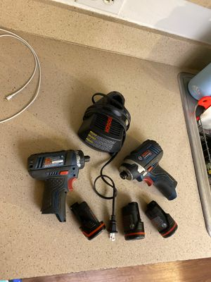 Bosch set of drill with battery and charger for Sale in West Palm Beach, FL