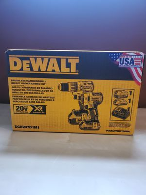 DEWALT 20-Volt MAX XR Cordless Brushless Hammer Drill/Impact Combo Kit (2-Tool) with (1) Battery 2Ah and (1) Battery 4Ah for Sale in Frederick, MD