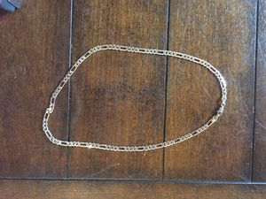 14 KT karate gold plated Italy CHAIN 20 inch recently cleaned WHITE GOLD for Sale in San Diego, CA