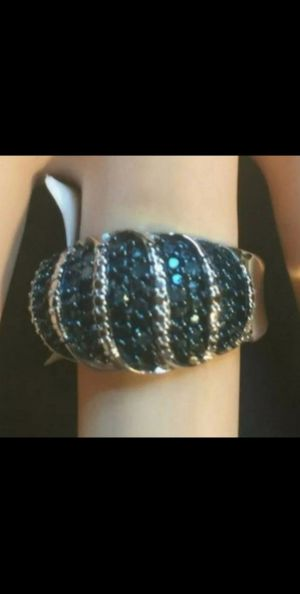 Brand New w/tags Genuine .75ctw Blue and White Diamond Ring.. Size 7. for Sale in Mesa, AZ