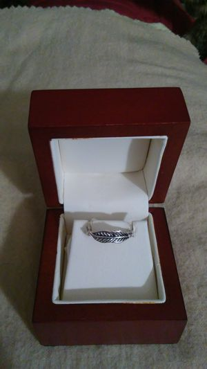 Silver plated feather ring. Size 7 for Sale in Richardson, TX