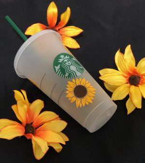Sunflowers- Custom Starbucks Cold Cup for Sale in East Los Angeles, CA