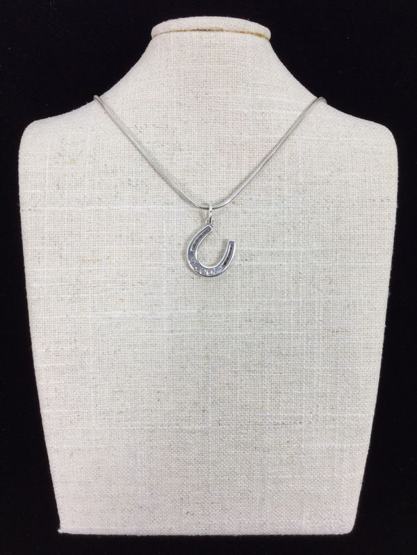 Sterling Silver Tiffany Horse Shoe Pendant Necklace
