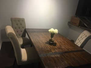 Kitchen Dining Table Ashley Furniture Wood with Chairs for Sale in Tampa, FL