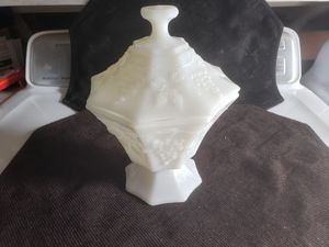 Milk glass covered candy dish for Sale in Torrance, CA