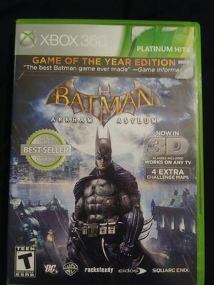 3D Batman Arkham Asylum(Xbox360) for Sale in Tacoma, WA