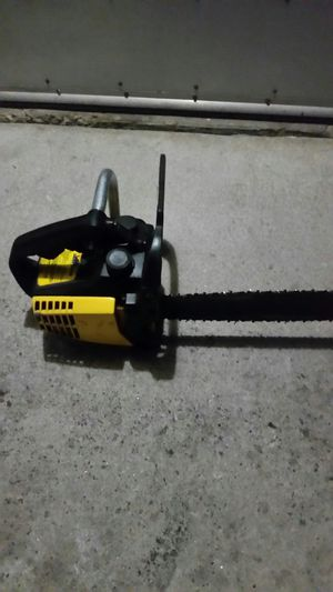 McCulloch eager beaver chainsaw with chain sharpner for Sale in Selma, CA