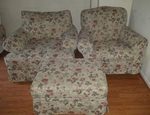 Couch and rocking chair/ottoman for Sale in Ashburn, VA